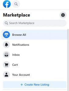 create facebook listing screenshot